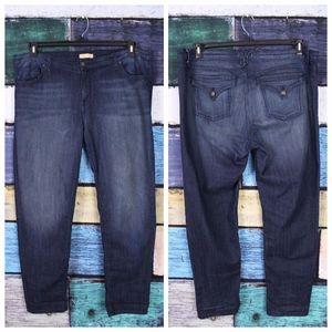 🌞 Piper's Closet Dark Stretch Flap Back Jeans